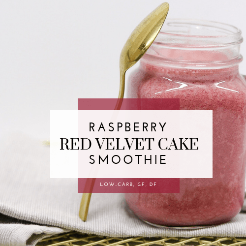 Raspberry Red Velvet Cake Smoothie (Low-Carb, Gluten-Free, Dairy-Free)