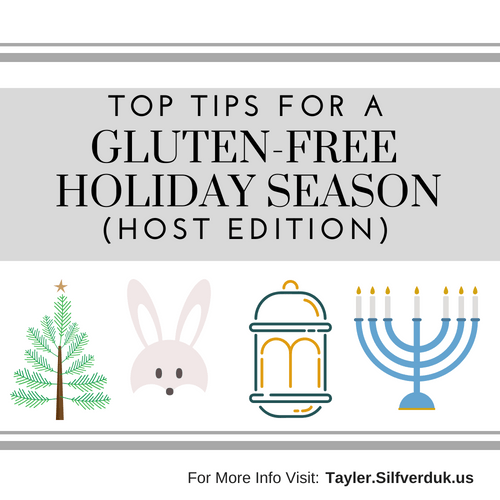 Top Tips For Gluten-Free Hosting during the Holiday Season
