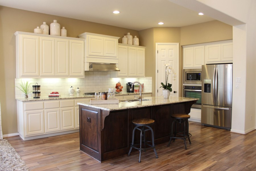 Five Kitchen and Bath Trend Predictions   TaylorCraft Cabinet Door     View Larger Image Kitchen painted white with cabinet