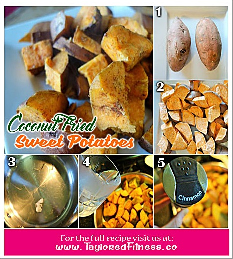 Coconut Fried Sweet Potatoes