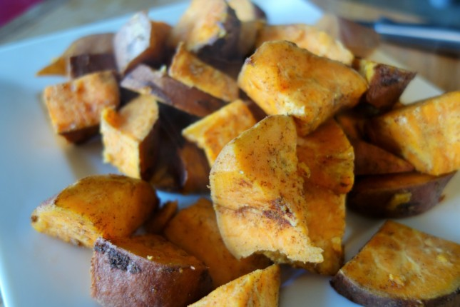 "Coconut ""Fried"" Sweet Potatoes"