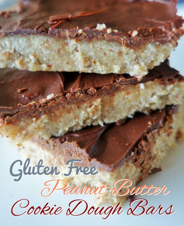 Gluten & Dairy-Free Peanut Butter Cookie Dough Bars