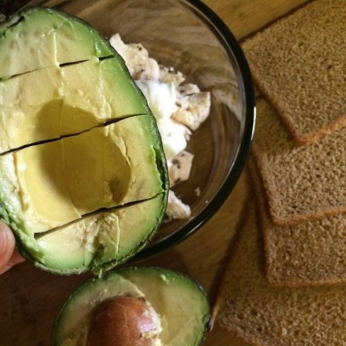 Chicken-Avocado Salad Sandwich