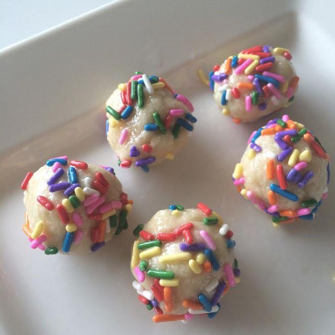 Cake Batter Protein Bites