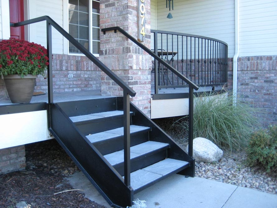 Taylored Iron Custom Iron Works Taylored For You Colorado Front | Prefabricated Exterior Metal Stairs | Stair Case | Stairways | Aluminum | Wrought Iron | Stair Treads