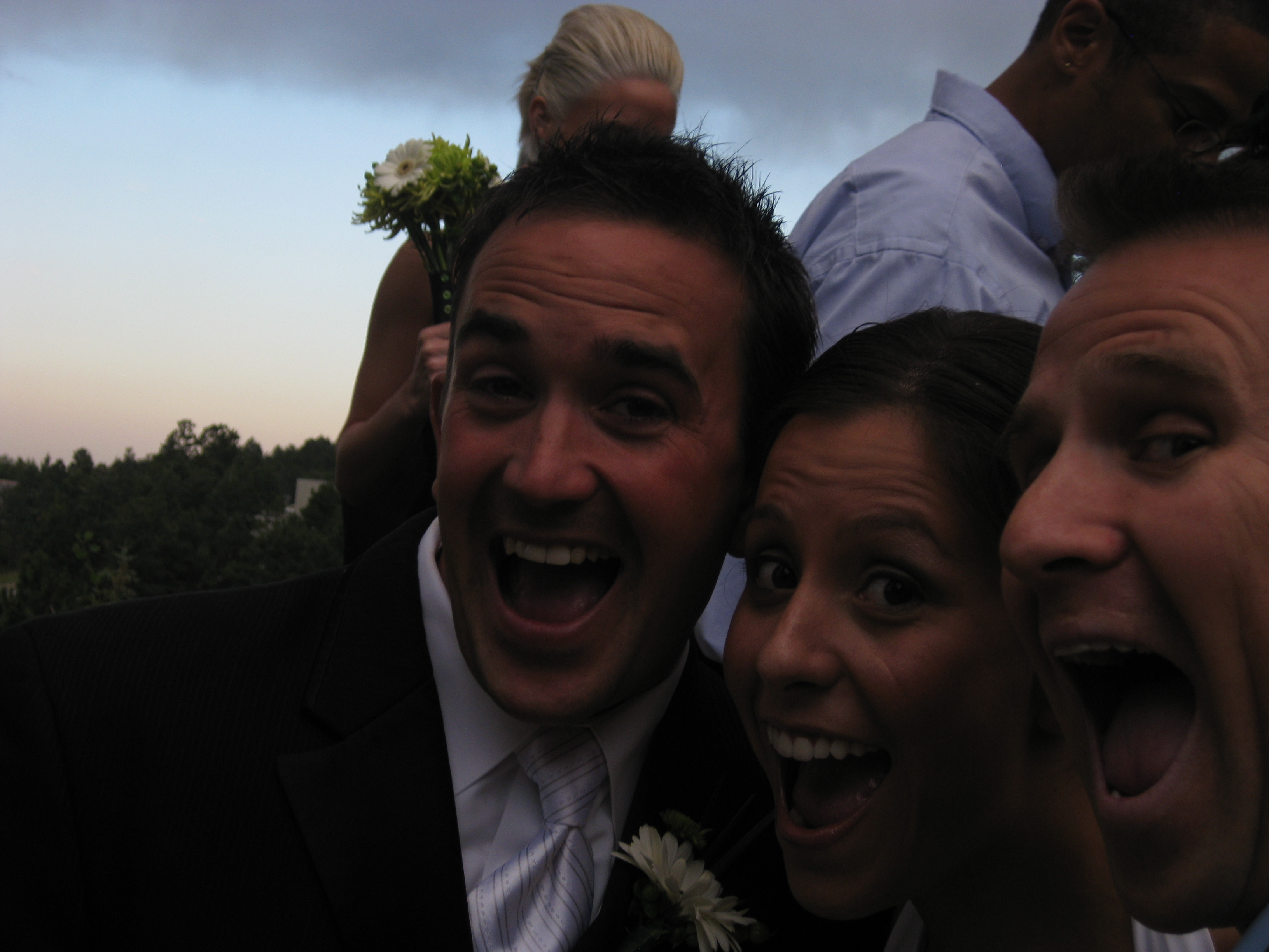 The only picture from my camera with the Bride and Groom.
