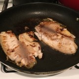 Resist the urge to move your fish filets around in the pan. Let them sit and brown a bit before flipping.