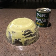 For maximum spiciness, I inverted the wasabi paste bowl for a minute
