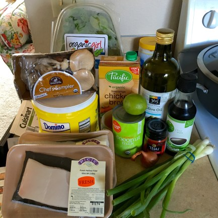 All of my ingredients for dinner!