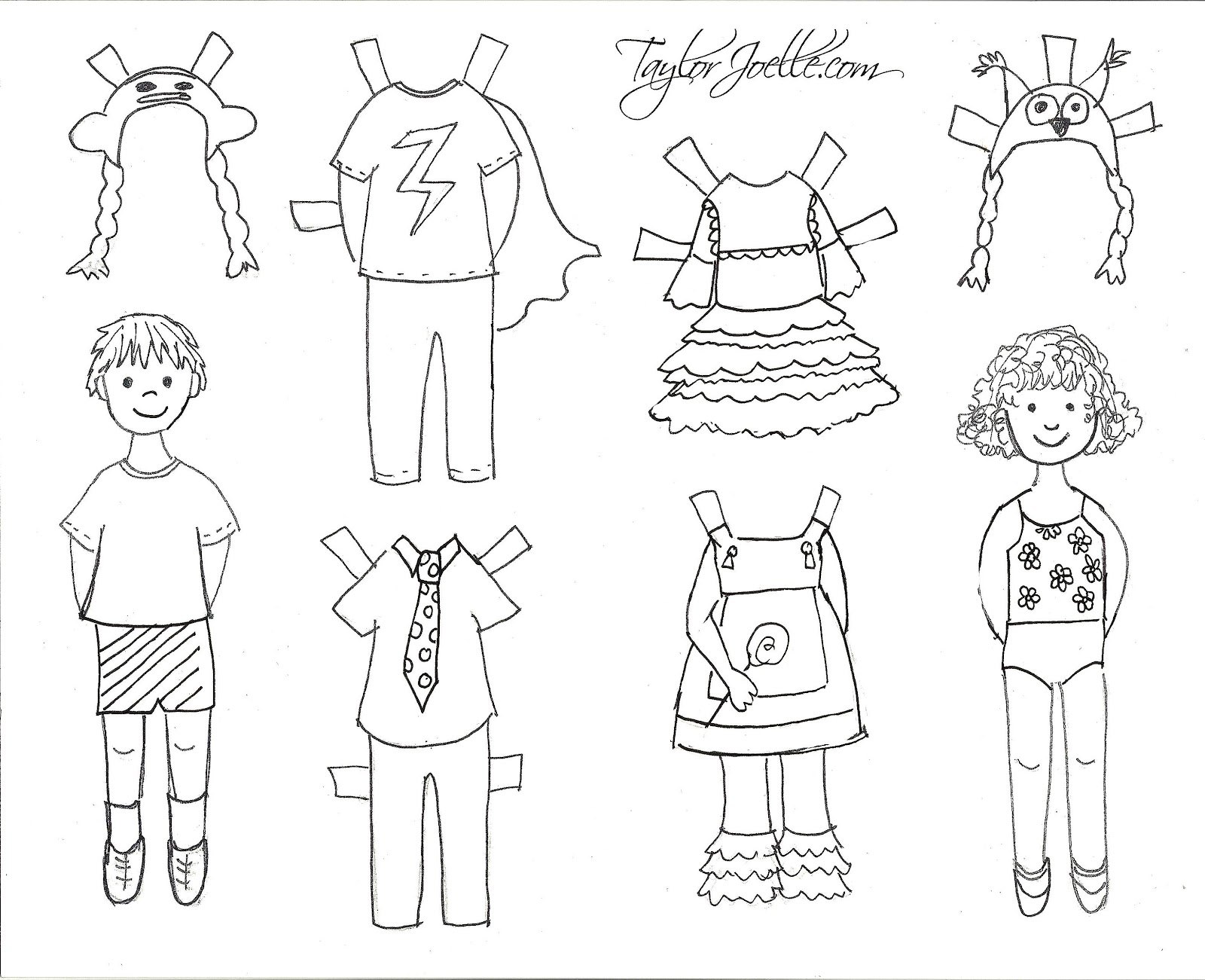 Colouring Pictures Of Summer Clothes