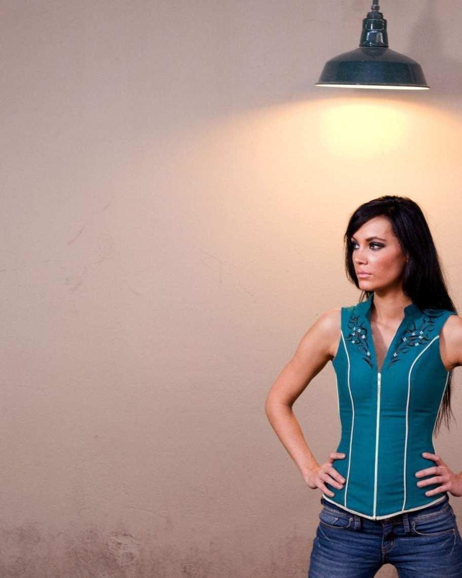 Stag Embroidered Waist Cincher Vest