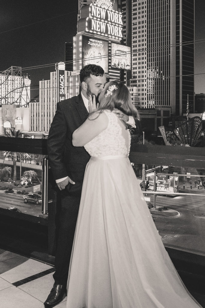 wedding portraits by Las Vegas neon