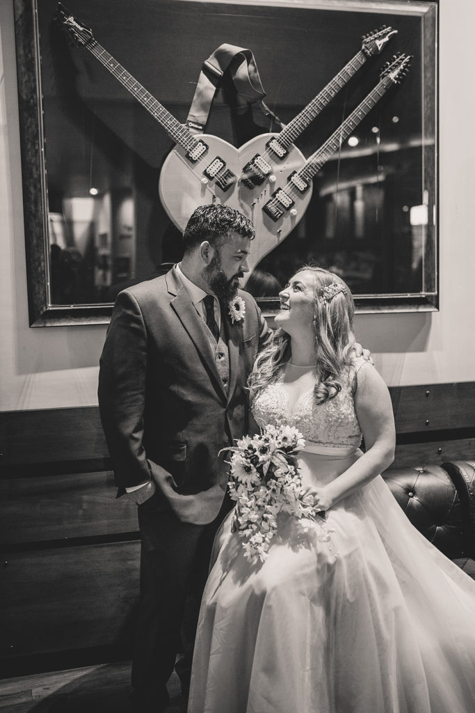 Hard Rock Cafe wedding portraits by Taylor Made Photography
