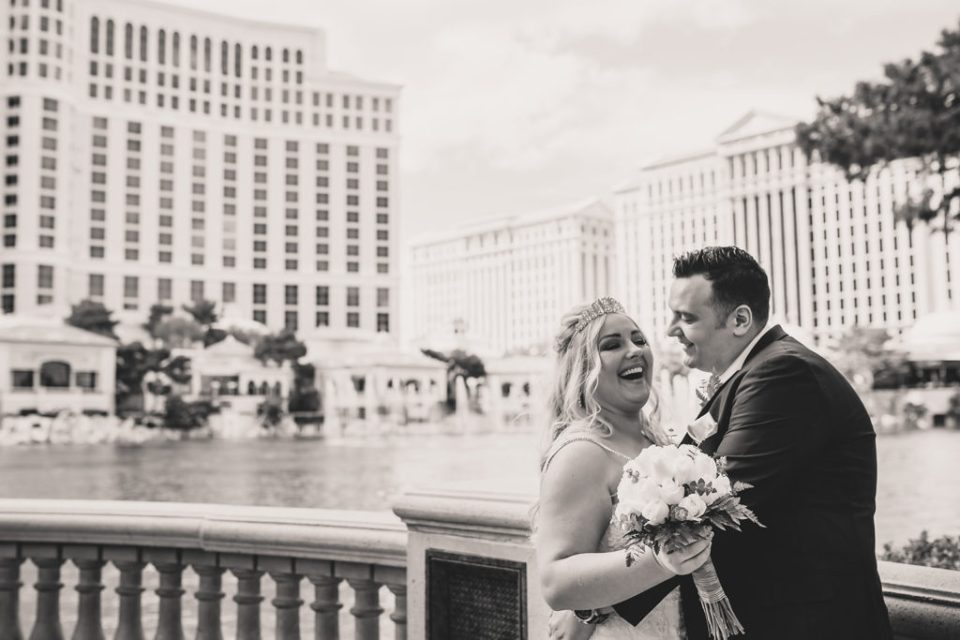 happy Las Vegas wedding portraits with Taylor Made Photography