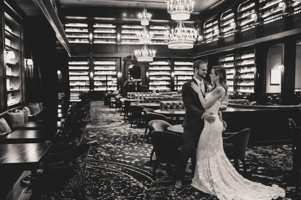 NoMad bar wedding portraits by Taylor Made Photography