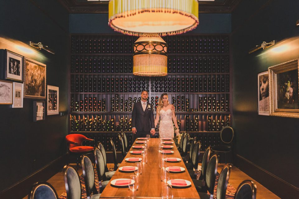 wine cellar wedding portraits by Taylor Made Photography