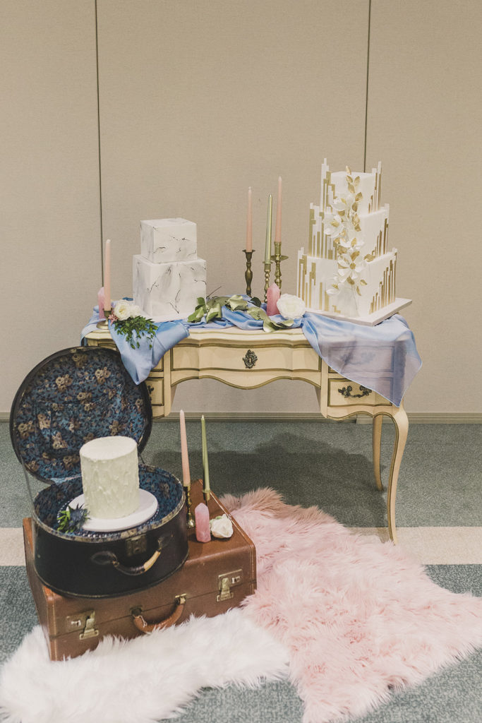 cake table with three cakes photographed by Taylor Made Photography