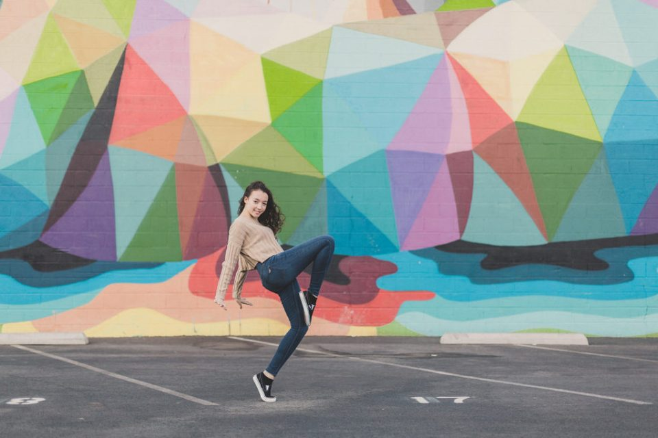 senior portraits with dancer in Las Vegas by Taylor Made Photography