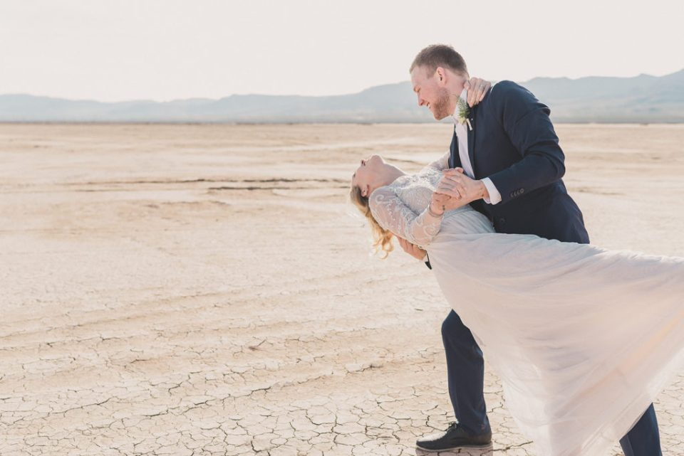 wedding portraits at El Dorado's Dry Lake Bed photographed by Taylor Made Photography