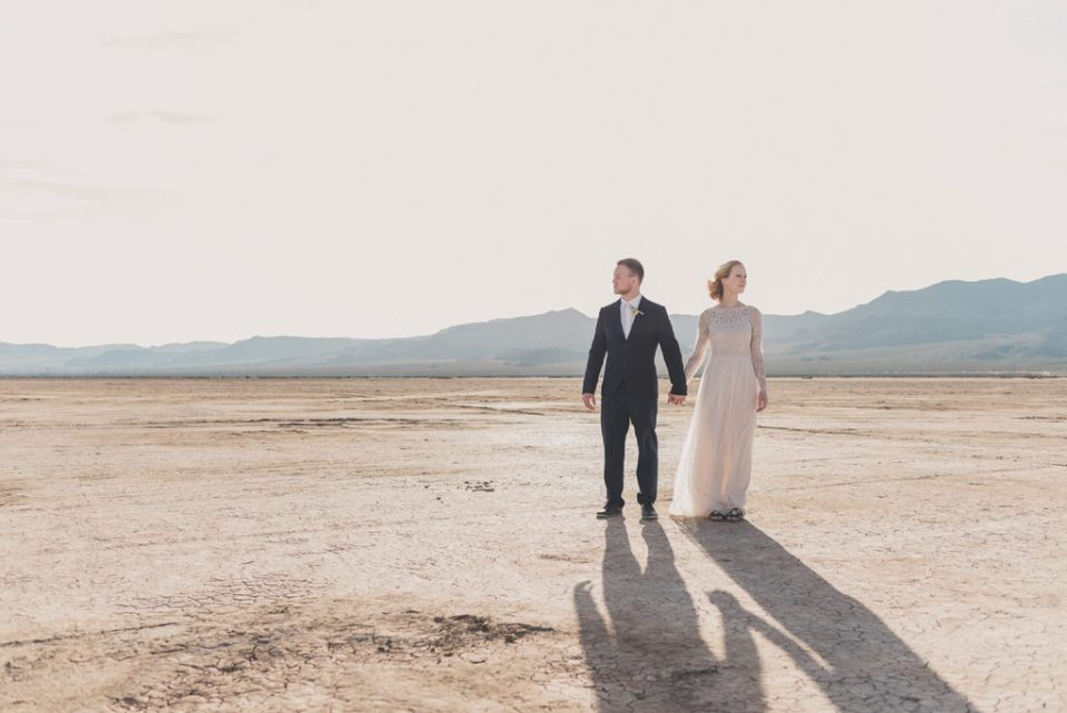 elopement at El Dorado Dry Lake Bed photographed by Taylor Made Photography
