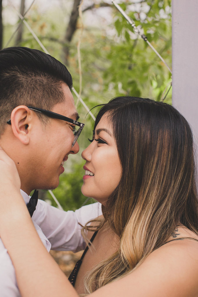 Nevada engagement session in botanical gardens with Taylor Made Photography