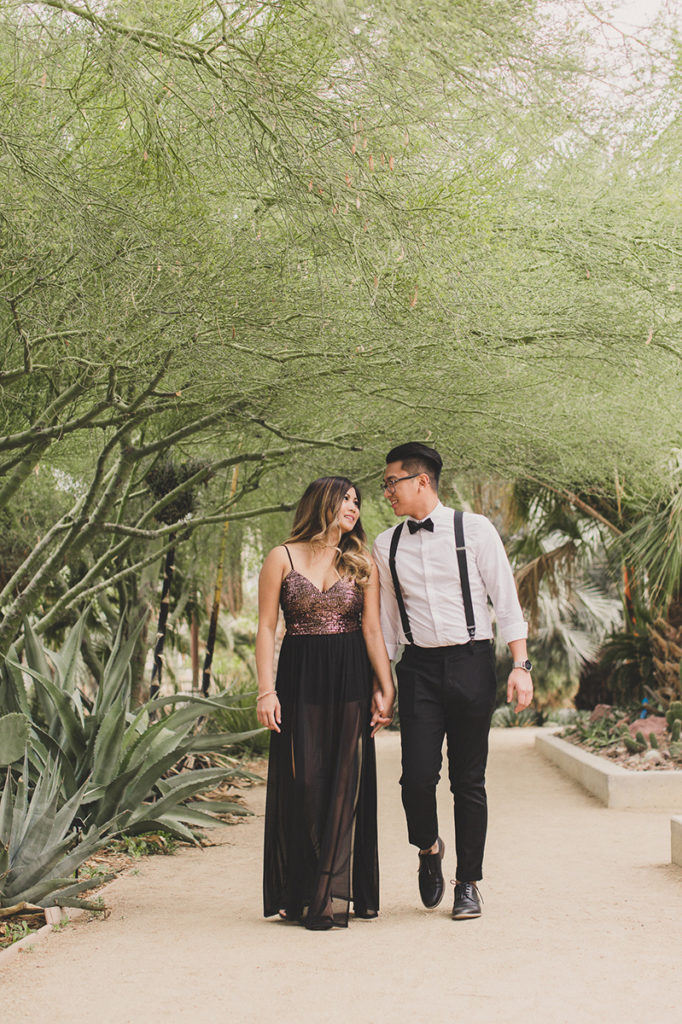 Taylor Made Photography captures couple walking through Springs Preserve