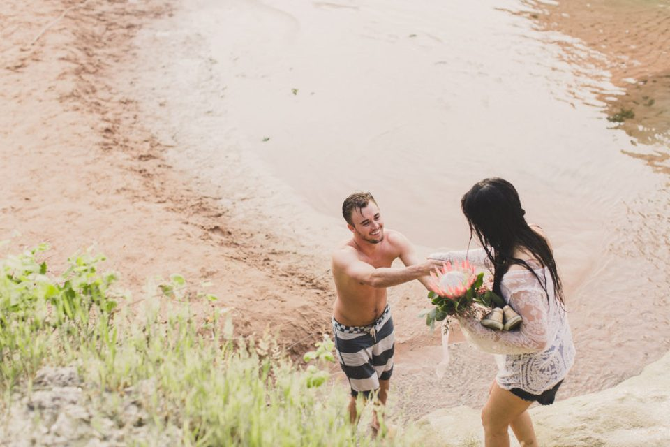 portraits of couple exploring in Arizona with Taylor Made Photography