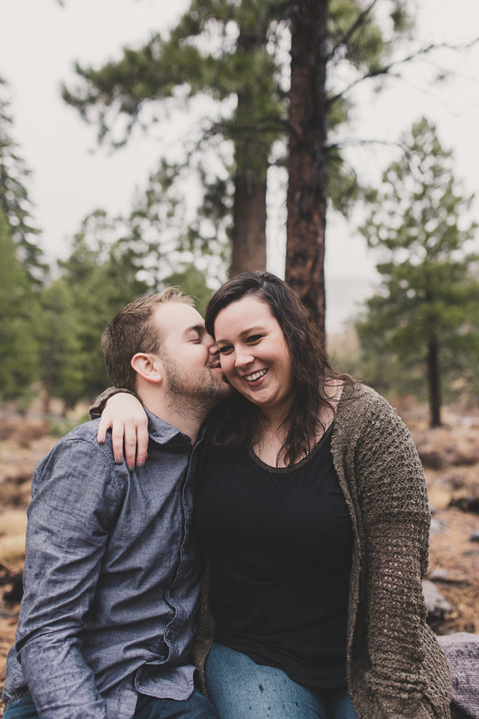 Taylor Made Photography captures Nevada engagement session on the mountainside