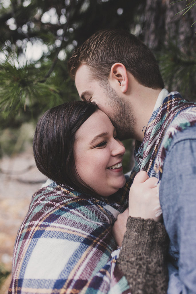 rainy Nevada engagement session photographed by Taylor Made Photography
