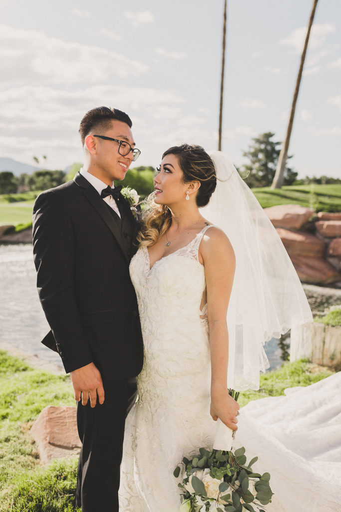 Las Vegas wedding portraits by Taylor Made Photography
