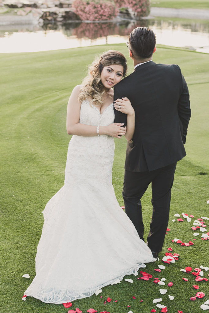 romantic wedding portraits at Canyon Gate Country Club
