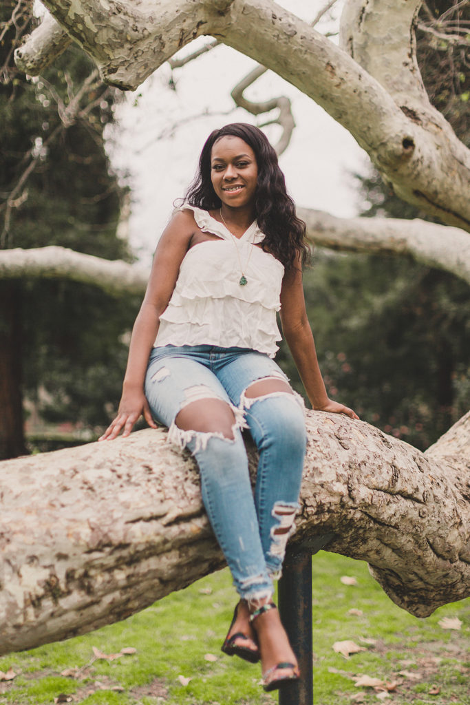 senior portraits in Pomona College with Taylor Made Photography