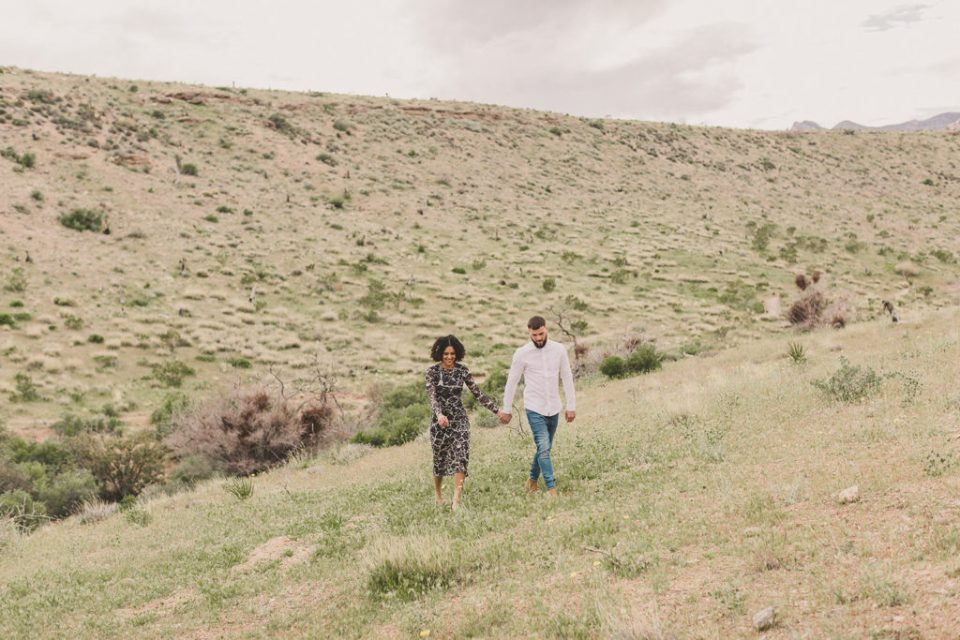 Las Vegas couple celebrates engagement in Red Rock Canyon with Taylor Made Photography