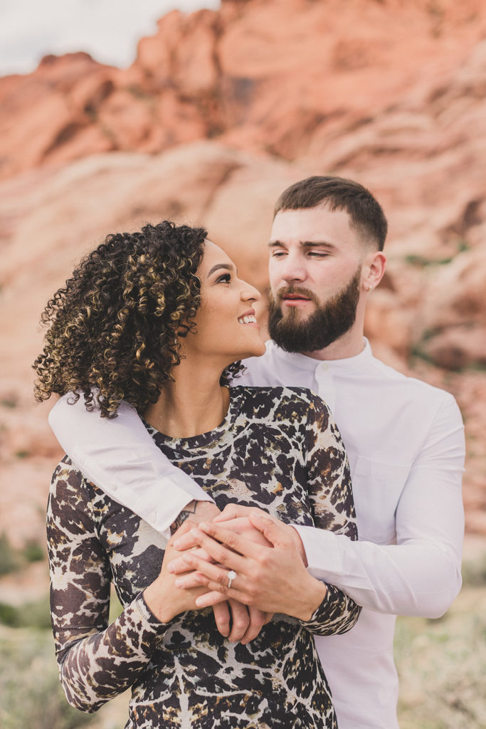 Las Vegas engagement portraits in Red Rock Canyon with Taylor Made Photography