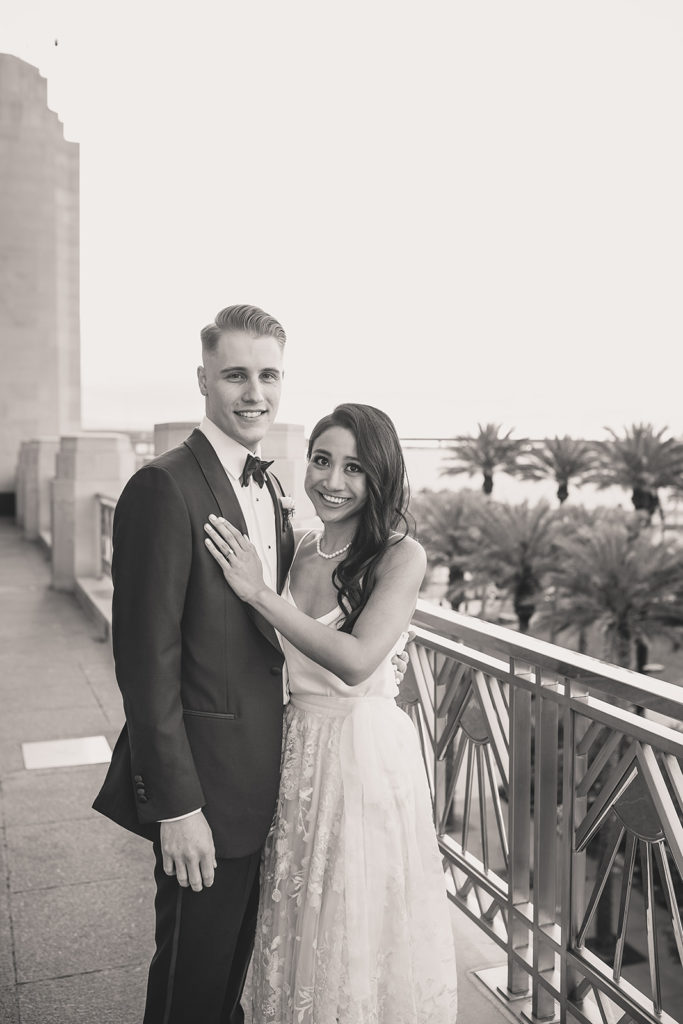 rooftop wedding portraits in Las Vegas by Taylor Made Photography