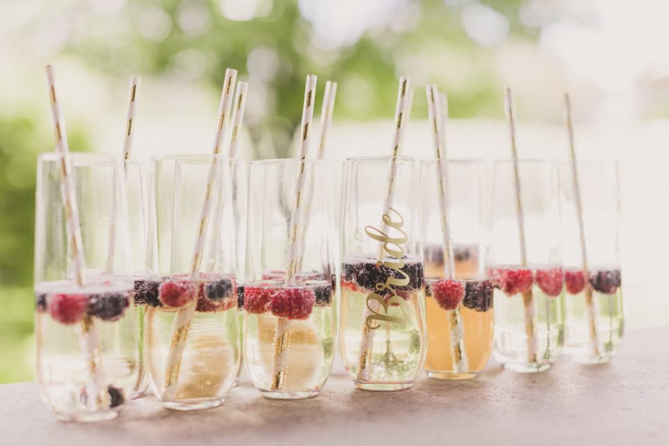 drinks for the bride and bridesmaids photographed by Taylor Made Photography