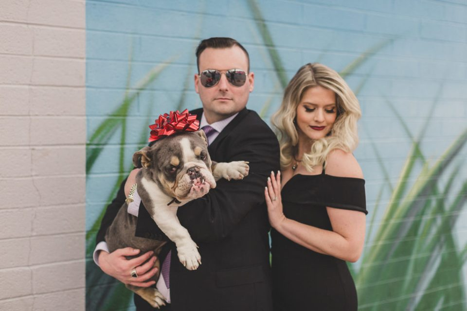 Las Vegas family portraits with new puppy photographed by Taylor Made Photography