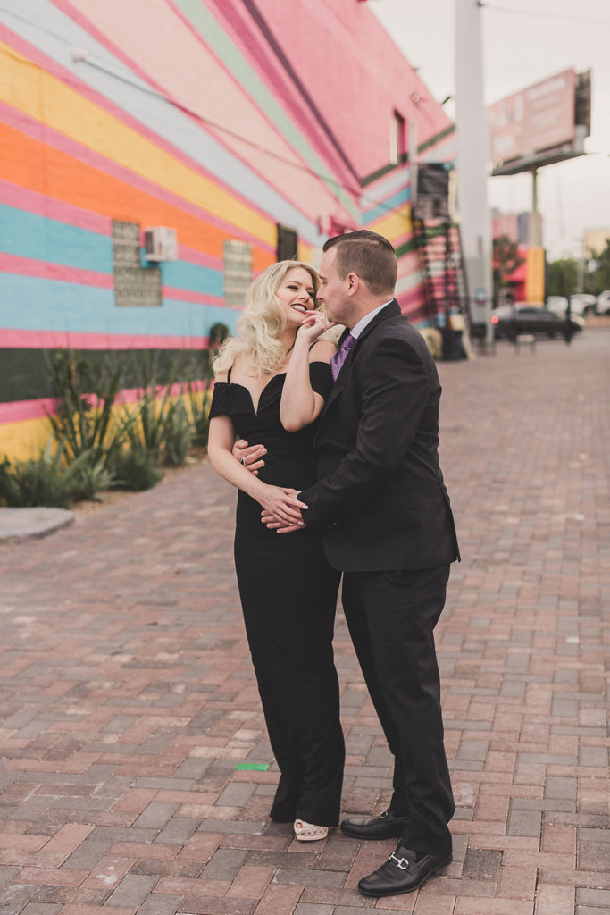 Downtown Arts District anniversary portraits with Taylor Made Photography