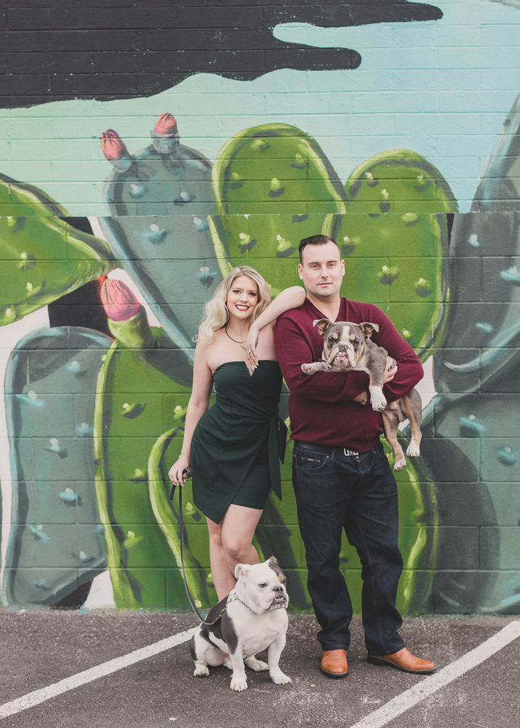 Las Vegas family portraits by murals in Downtown Arts District with Taylor Made Photography