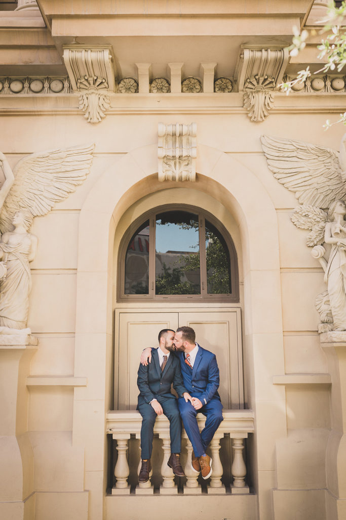 elopement portraits of two grooms by Taylor Made Photography