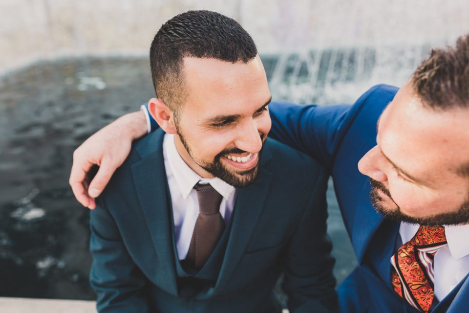 Taylor Made Photography photographs couple laughing before elopement