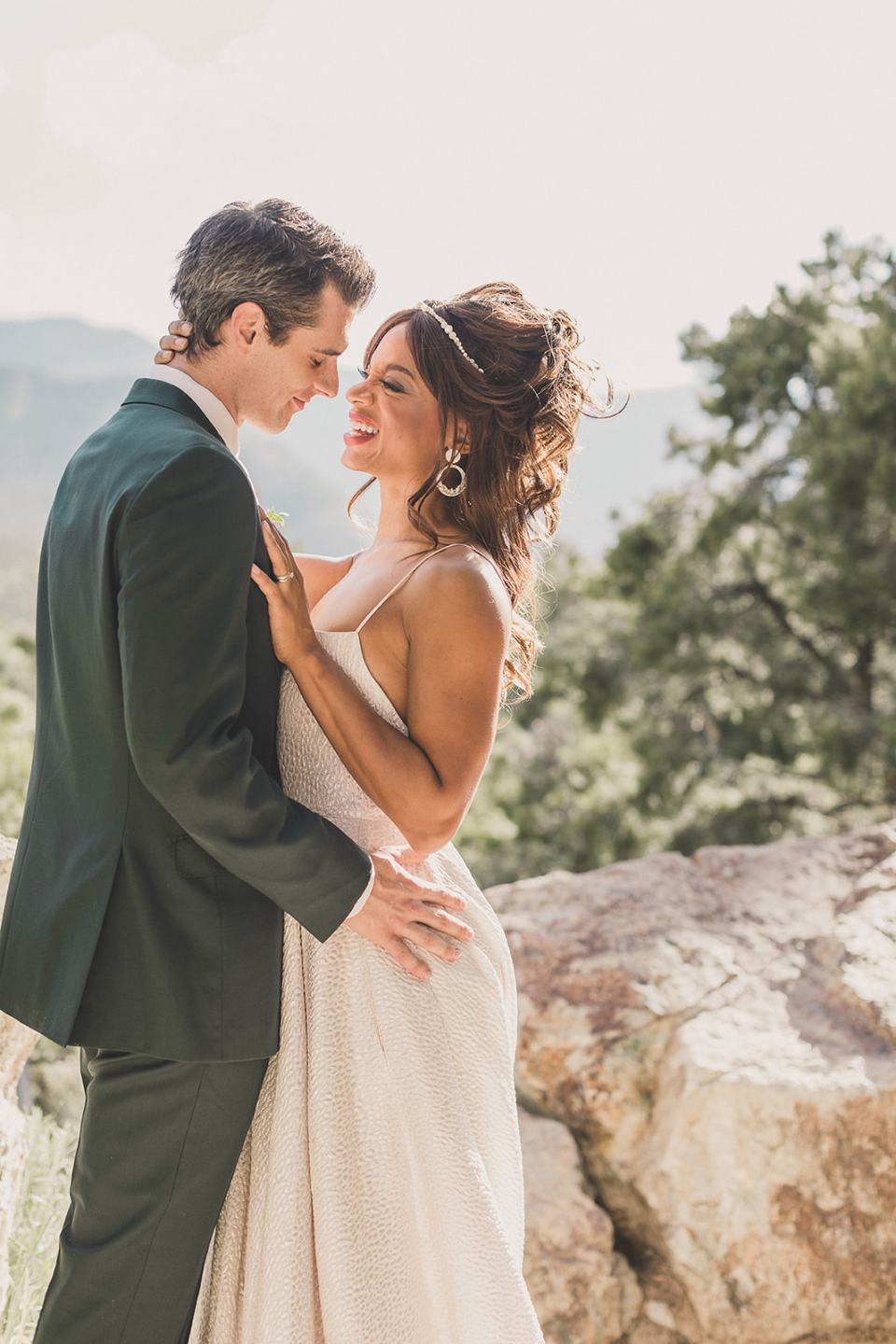 wedding portraits during Las Vegas styled shoot photographed by Taylor Made Photography
