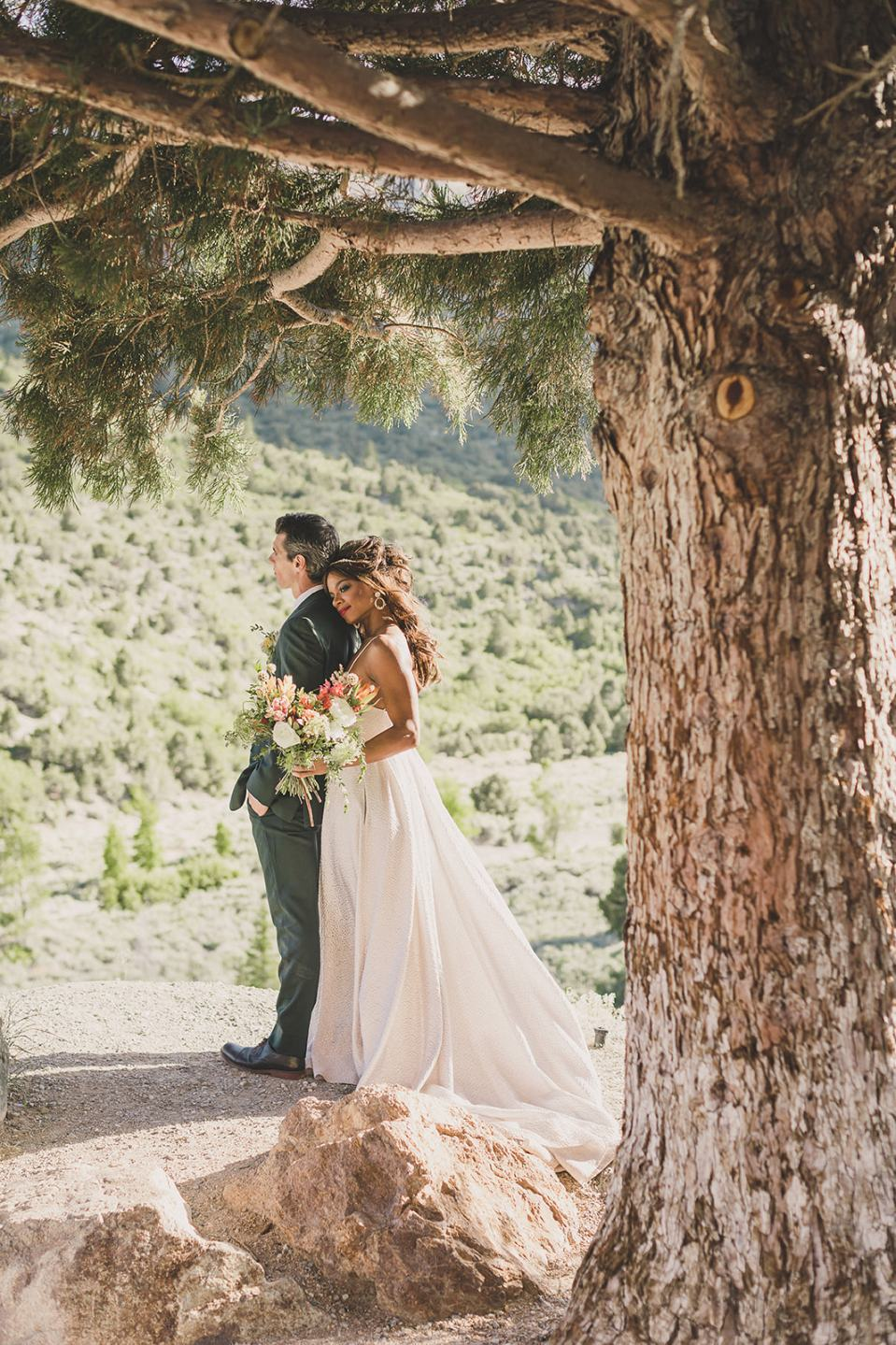 woodsy elopement portraits photographed by Taylor Made Photography