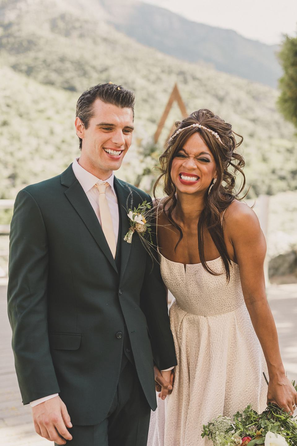 newlyweds celebrate elopement in Las Vegas photographed by Taylor Made Photography