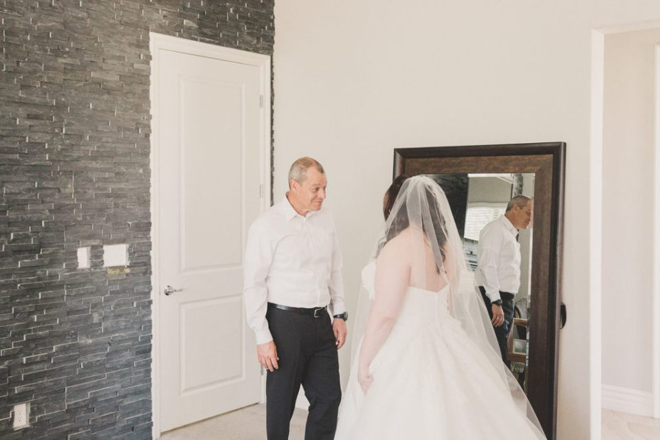 emotional first look with dad photographed by Taylor Made Photography
