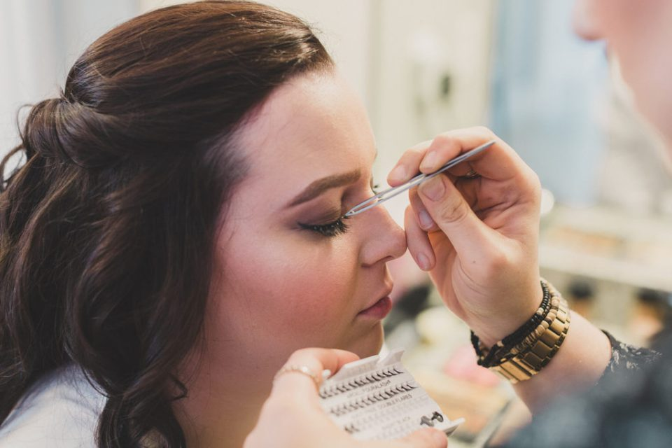 bridal makeup prep photographed by Taylor Made Photography