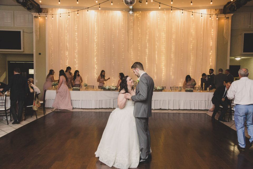 wedding reception first dance at the Grove photographed by Taylor Made Photography