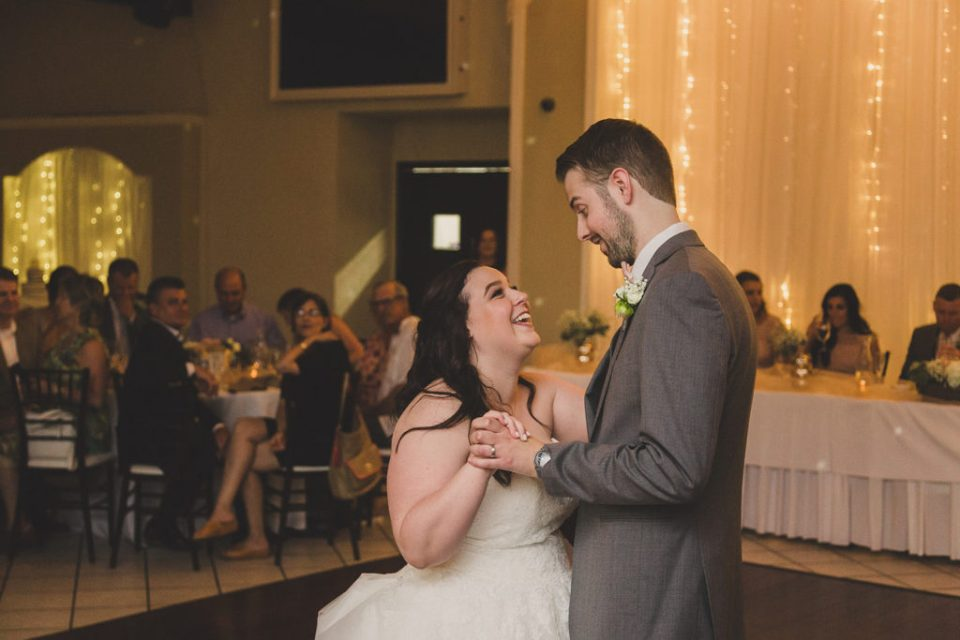 The Grove wedding reception first dance photographed by Taylor Made Photography