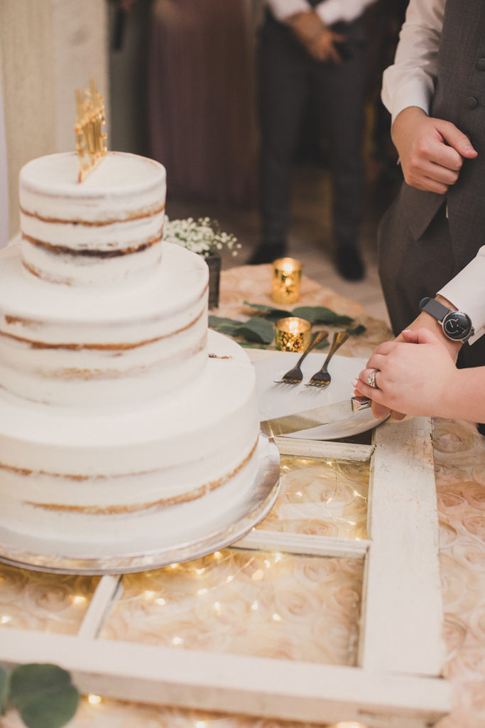 cake cutting at The Grove in Las Vegas photographed by  Taylor Made Photography