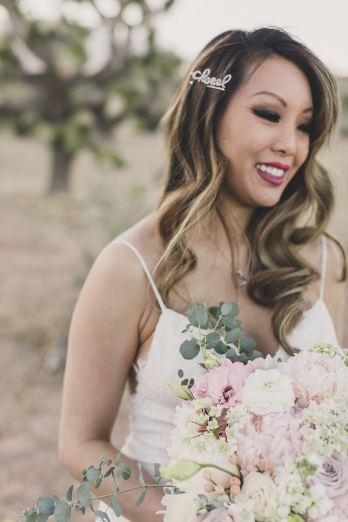 Taylor Made Photography photographs bride before Las Vegas elopement
